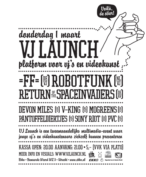 VJ Launch Flyer